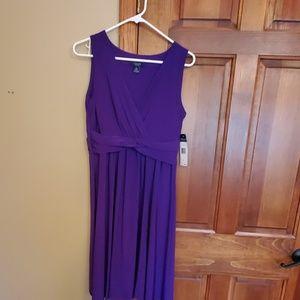 Purple Chaps dress, size Large
